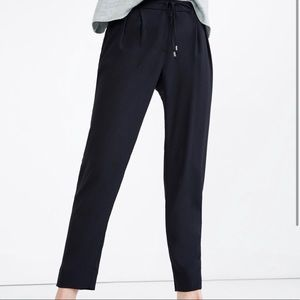 Zara Navy Blue High Waisted Lounge Pants Size S